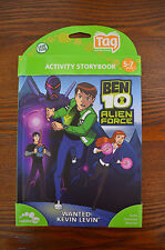 LeapFrog Tag Activity Storybook Ben 10 Alien Force Wanted Kevin Levin (5-7 yrs)