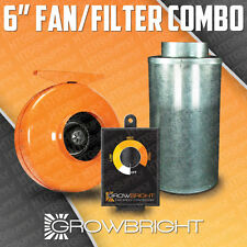 "6"" CARBON FILTER + FAN + SPEED CONTROLLER COMBO! ODOR SCRUBBER inline hydroponic"
