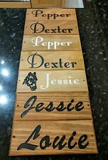 Horse Dog Name Plate Stable Door Kennel Name Plaque Custom Made Engraved Wood