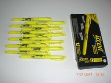 Sanford Lot 27025 Sharpie Accent Highlighter Chisel Point Nontoxic 12/PK Yellow