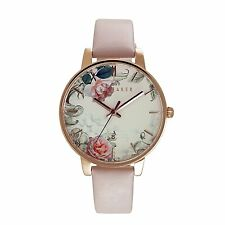 Ted Baker Ladies Pink Leather Strap Watch TE10030653 RRP £135