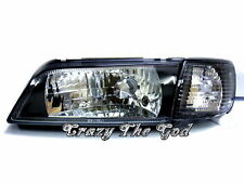 Maxima Cefiro A32 1995-1998 Crystal Glass HEADLIGHT Black DEPO for NISSAN