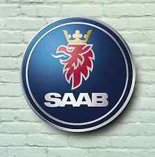 SAAB BADGE LOGO 2FT GARAGE SIGN WALL PLAQUE CAR CLASSIC WORKSHOP 92 93 94 95 99