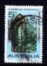 AUSTRALIA - 1968 - Natale. Vetrata gotica ad arco di fronte al paesaggio di Betl