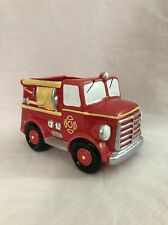Napco Imports Red Fire Engine Planter