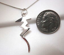 Zig Zag Lightening Bolt Pendant 925 Sterling Silver Corona Sun Jewelry