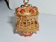 VINTAGE 18K GOLD PENDANT CHARM WITH 14K GOLD BAIL it opens up