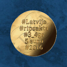 Lettland - Gold Brooches - The Disc Fibula - 5 Euro 2016 Gold PP
