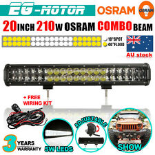 20INCH 210W  OSRAM LED WORK LIGHT BAR SPOT FLOOD COMBO LAMP UTE JEEP BOAT 4WD