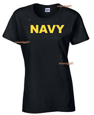 Adult Sizes Womens T-Shirt  US Army NAVY Military Women Shirt SIZE S-XL