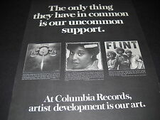 TOTO Cheryl Lynn and FLINT from Grand Funk 1978 PROMO DISPLAY AD mint condition