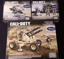 Mega Bloks CALL OF DUTY 3lot ANTI-AIRCRAFT VEHICLE ROCKET TURRENT HOVERBIKE RAID