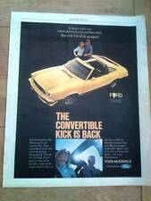 """FORD MUSTANG II convertible 1977  Poster size Press ADVERT 13x10"""""""