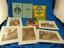 German catalogues beer steins watches clocks + 5 prints of German villages art