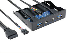 20 Pin To 2 Port USB 3.0 HUB And  3.5-in PC Floppy HD Audio Front Panel For PC