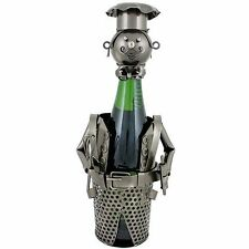 Bradley Chef Metal Sculpture Wine Bottle Holder Chef Wine Rack