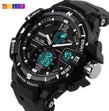 UK Mens  Dual Display shock proof Digital LED Sports Divers Watch By Skmei.
