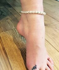 Ankle bracelet/anklet Faux Pearl And AB Spacer Bead Bridal Holiday Party Prom