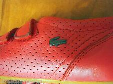 Scarpe da ginnastica rosse Lacoste originali in pelle sneakers tg sz n. 37 6 4