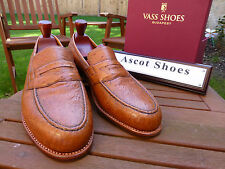 VT029 Vass EU 42.5 - US 9.5 D - Norweger Loafers Ostrich Cognac - New Peter Last