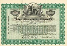 USA STOKES MANUFACTURING CORPORATION stock certificate 1921