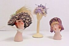 Dollhouse Miniature Mannequin Heads Hats Lot Setso Ueno