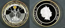 2000 Australia $10  Millenium SILVER PROOF (gilt outer ring) only 20,000 minted!