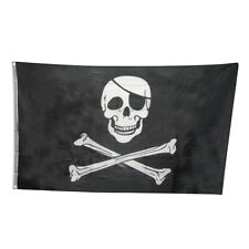 Black 3x5FT Skull Cross bone Sword Jolly Roger Pirate Flag Halloween Home Party