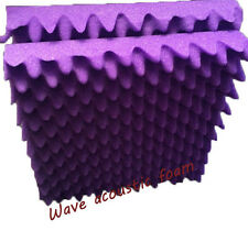 High quality Egg creat Acoustic Foam Purple Wave Soundproof Foam 8 PCS