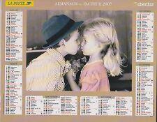 CALENDRIER ALMANACH des postes PTT 2007 deux amoureux