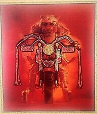 Vintage 70s Miss Piggy Riding Her Hog!Iron On Transfer Muppets RARE!
