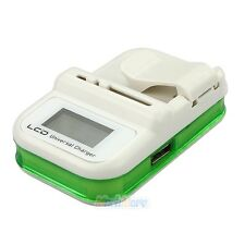 Universal Cell Phone Camera Li-ion Battery Wall Travel Charger w/ LCD Screen USB