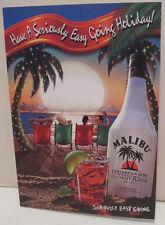 MALIBU CARIBBEAN RUM TROPICAL HOLIDAY CHRISTMAS 2002 PROMO GREETING POSTCARD