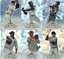 """2013    """"TOPPS""""    TRIBUTE  BASE   PIC YOUR OWN 5 CARD LOT"""
