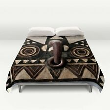 DUVET COVER ~ FULL Size ~ Exclusive African Bobo Bwa Hawk Mask Design ~ Stunning