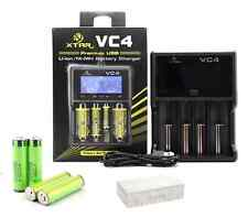 XTAR VC4 Universal battery charger + 6 Panasonic NCR18650B Protected batteries