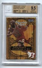 1998-99 Fleer Tradition PLAYMAKERS THEATRE #9 Michael Jordan BGS 9.5 w/ 10 ERROR
