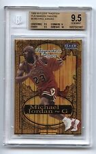 1998-99 Fleer Tradition PLAYMAKERS THEATRE #9 Michael Jordan! RARE BGS 9.5 GEM!