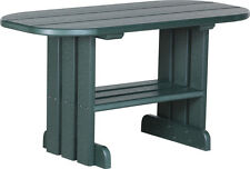 Outdoor Poly Furniture Wood Coffee Table *GREEN COLOR* Amish Made