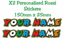 "Custom Valentino Rossi ""THE DOCTOR"" Text Decal Stickers - Your Name"