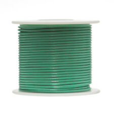 """18 AWG Gauge Solid Hook Up Wire Green 100 ft 0.0403"""" UL1007 300 Volts"""