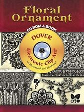 Floral Ornament CD-ROM and Book Dover Electronic Clip Art