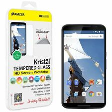 AMZER 8-9H TEMPERED GLASS HD SCREEN PROTECTOR FOR MOTOROLA NEXUS 6 XT1100 XT1103