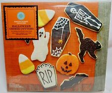 HALLOWEEN COOKIE CUTTERS SET Martha Stewart Collection 7 Cutters & Recipe Card