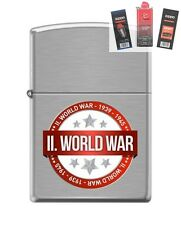 Zippo 200 world war II 1939-1945 Lighter + FUEL FLINT & WICK GIFT SET