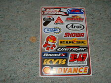 Decals / stickers R/C radio controlled No fear Honda Afam Shell Showa etc  G65