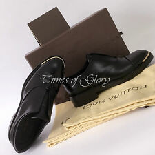 £ 710 Louis Vuitton Donna Nero Pelle Mocassini Oxford Scarpe Brogue Scarpe Taglia 37 37.5