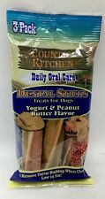 Dogs Sticks Dental Treat Daily Oral Care Yogurt Peanut Butter 3pc Low Fat New
