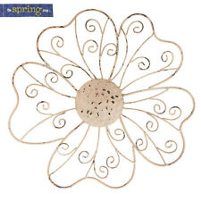 Cream Iron Flower Wall Decor. Hang it on your front porch, back patio, house