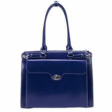 "Mcklein Winnetka 15.6"" Ladies' Briefcase w/ Removable Sleeve Navy 9483-Navy"